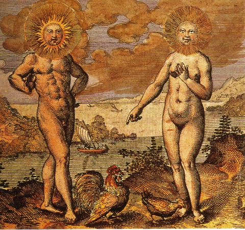 Alchemical-sun-moon, alchemy art, site credit: www.astroquestastrology.com/articles/alchemy/#