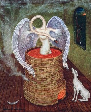 alchemical swan by Karena A. Karras, site credit: www.alchemywebsite.com/contemp_artists