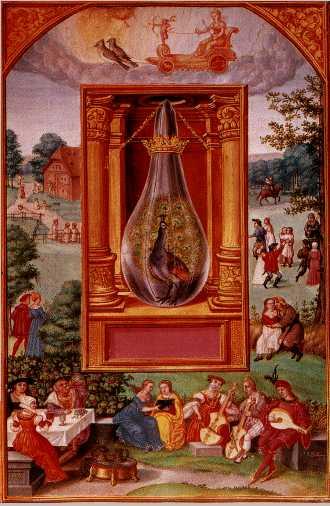 site credit: www.alchemywebsite.com, artist unknown, alchemy peacocks tail