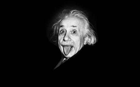 Albert-Einstein, tongue
