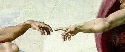 Sistine Chapel detail (Creation) by Michelangelo