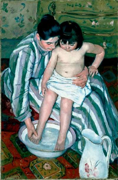 The Child's Bath, 1893, by Mary Cassatt, http://missrobinsartclass.blogspot.com/2010_10_01_archive.html