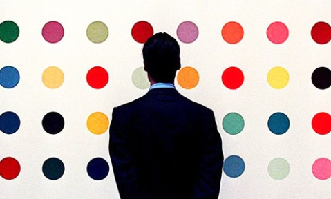 Damien Hirst, dots, site credit: www.thelmagazine.com/TheMeasure/archives/2011/08/08/damien-hirst-to-connect-his-dot-paintings-around-the-world