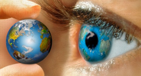 earth reflected in eye