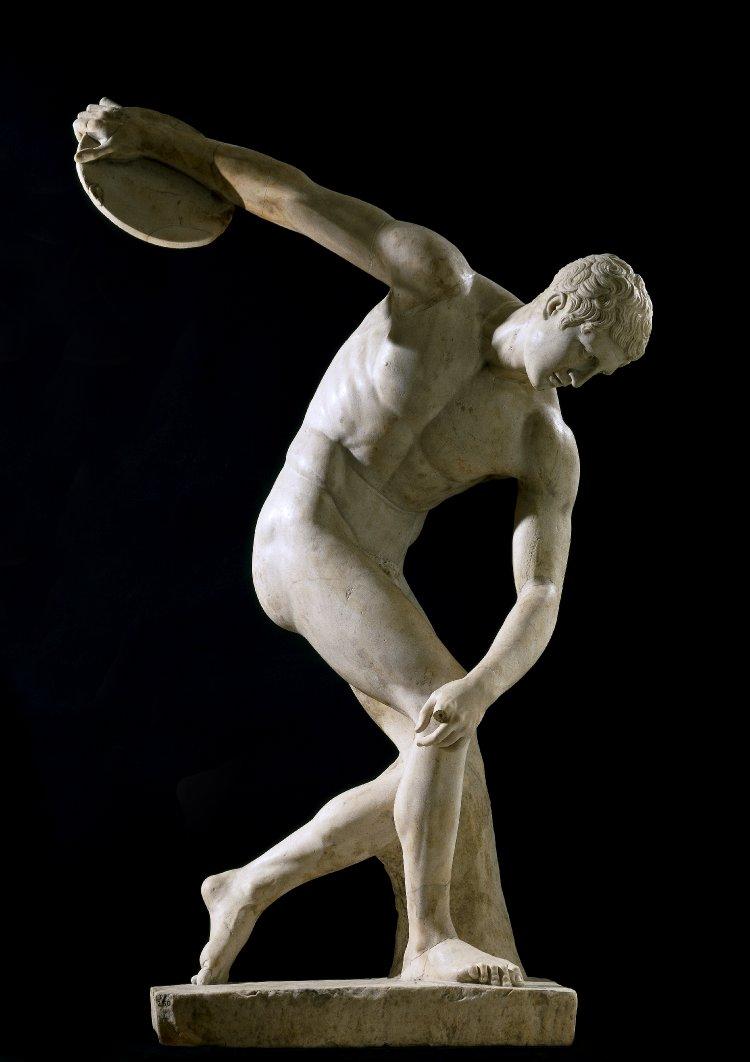 Townley-Discobolus, site credit: http://www.thehistoryblog.com/archives/date/2012/06/03, ancient greek sculpture,