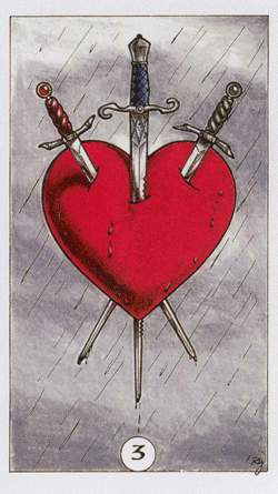 3 of swords heart