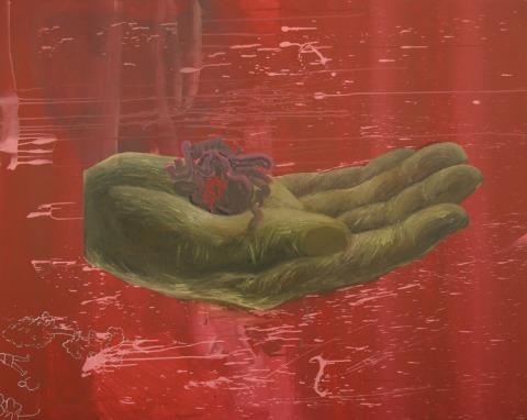 Heart in Hand by: Małgorzata Wielek-Mandrela, site credit: http://www.saatchiart.com/art/Painting-Heart-in-hand/389735/1545830/view