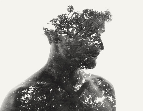 man and nature, one with nature