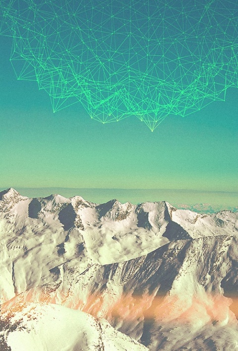 Lena Smirnova | mountains, sky and geometric northern lights