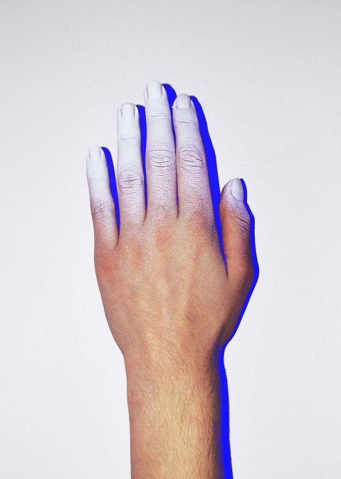 white space, hand, singular, presence