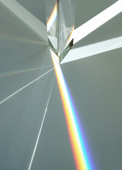 rainbow prism, crystal sparkling