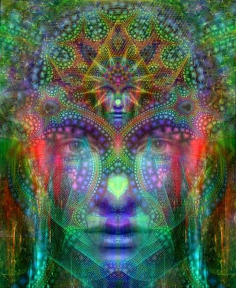 third eye meditation visionary art