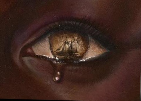 black pain, african american tear, oppression art
