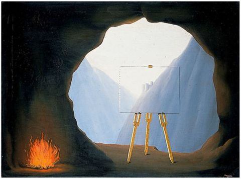 """la condition humane"" by rene magritte http://www.bbc.com/news/uk-england-norfolk-37299450"