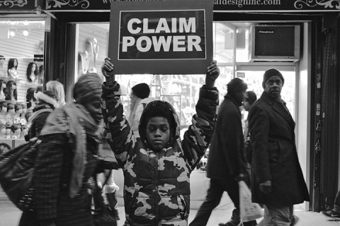 claim power, savannah spirit political art activism black and white photography