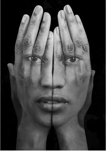 Tigran Tsitoghdzyan, art, self-reflection, collage, portrait photography, mirror LLL
