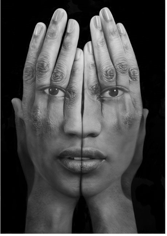 Tigran Tsitoghdzyan, art, self-reflection, collage, portrait photography, mirror LLL